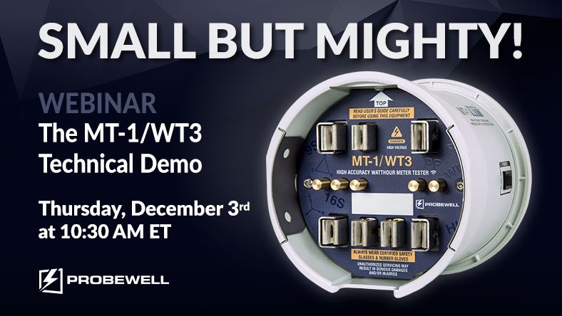 Probewell Webinar   Meter testing solution   Probewell Connect   MT-1/WT3