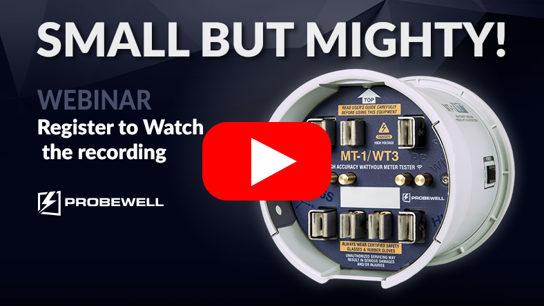 Probewell Webinar | Meter testing solution | Probewell Connect | MT-1/WT3 | Watch Recording